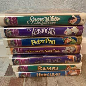 7 Classic Disney VHS